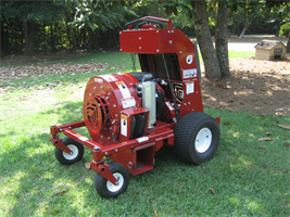 Brown - Model BVZ4000 - Commercial-Grade Ride-On Blower & Vacuum