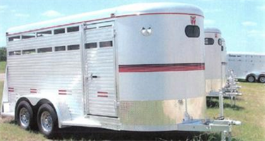 W-W ?ALL-ALUM - Model 4' or 16' 6' or 7' Wide - Aluminum Cattle Trailer