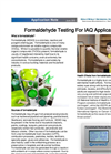 Formaldehyde Testing for IAQ Applications  Note