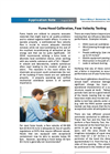 Fume Hood Calibration, Face Velocity Testing - Applications Note