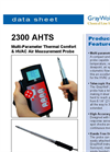 GrayWolf - Model 2300 AHTS - Multi-Parameter Thermal Comfort & HVAC Air Measurement Probe - Datahseet