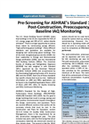 Pre-Screening for Ashrae`s Standard 189.1: Post-Construction, Preoccupancy Baseline IAQ Monitoring - Applications Note