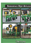 Rain-Flo - Sub Surface Drip Applicator Datasheet