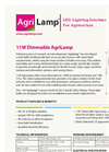 AgriLamp - Model 11W - Dimmable Bulb - Brochure