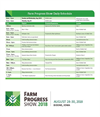 Farm Progress Show Daily - Schedule