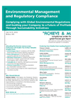 Environmental Management and Regulatory Compliance 2010