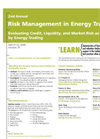 Risk Management in Energy Trading Brochure