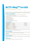 ACTI-MagTM Fert85 Bio-friendly Magnesium Fertiliser