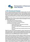 PET Thermoforms - Brochure
