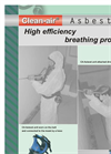 Clean-air - Asbest - High Efficiency Breathing Protection Mask - Brochure