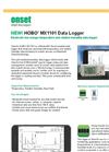 HOBO - Model MX1101 - Temp/RH Logger for Mobile Devices - Datasheet