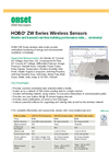 HOBO - ZW Series Wireless Sensors - Datasheet