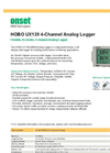 HOBO - Model UX120 4-Channel Analog Logger - Brochure