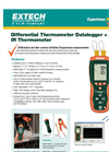Extech - Model HD200 - Differential Thermometer Data Logger + IR - Datasheet