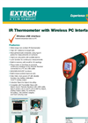 Extech - Model 42560 - IR Thermometer with Wireless PC Interface - Datasheet