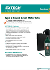 Extech - Model 407732-KIT - Low/High Range Sound Level Meter Kit - Datasheet