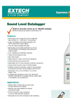 Extech - Model 407764 - Datalogging Sound Level Meter - Datasheet