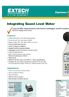 Extech - Model 407780 - Integrating Sound Level Datalogger - Datasheet