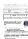 WattNode Pulse Output kWh Transducer Connection - Instructions Manual