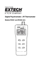Models RH401 and RH405 - Digital Psychrometer + IR Thermometer  - Manual
