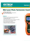 Extech - Model 461920 - Mini Laser Photo Tachometer Counter - Datasheet