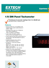 Extech - Model 461950 1/8 DIN - Panel Mount Digital Tachometer - Datasheet