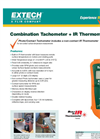 Extech - Model RPM10 - Photo/Contact Tach with Laser and Infrared Thermometer - Datasheet