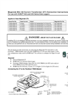 Magnelab Mini AC Current Transformer (CT) Connection - Instructions Manual