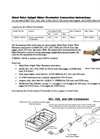 Minol Pulse Output Water Flowmeter Connection - Instructions Manual