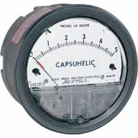 Dwyer Instruments - Model Series 4000 - Capsuhelic Differential Pressure Gage for Liquids and Gases