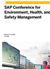 SAP Conference for Environment, Health and Safety Management 2017 Brochure