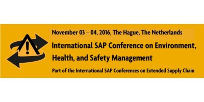 International SAP Conference on Environment, Health, and Safety Management - 2016