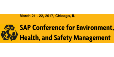 SAP Conference for Environment, Health and Safety Management 2017