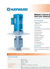 Hayward CPVC - Model 1D1GX0008 - Vertical Immersible Seal-Less Pump Brochure