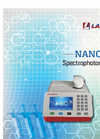 Nano Spectrophotometer Catalogue