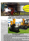 Model 4-45 Ton - Tilting Ditching Bucket for Excavators - Datasheet