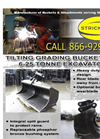 Model 6-25 Ton - Tilting Grading Bucket for Excavators - Datasheet