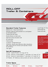 Model U-Dump - Bumper Pull Roll Off Trailer Brochure