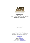Computrac Model MAX 4000XL Moisture Solids Analyzer User Manual
