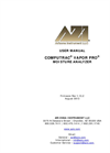Computrac Vapor Pro Moisture Analyzer - User Manual
