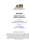 Jerome 451 Mercury Fixed Point Monitor - Operation Manual