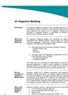 Air Dispersion Modeling Services- Brochure