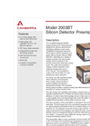Model 2003BT - Silicon Detector Preamplifier Brochure