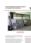 Ceramic Membrane Filtration System for Industrial Parts Washers Brochure
