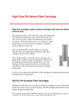 High Flow PH Series Filter Cartridge Brochure