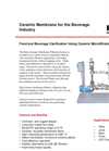 Ceramic Membrane for the Beverage Industry Brochure