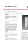 Hilite-E Filter Cartridges Brochure