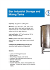 Star Filters - SST-1 - Industrial Storage & Mixing Tanks - Brochure