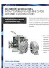Hilliard - Model IDU, & IDU/ADU - Intermittent Drive Packages with Single Revolution Clutches