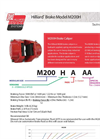 Hilliard - Model M200H - Brake Caliper - Datasheet